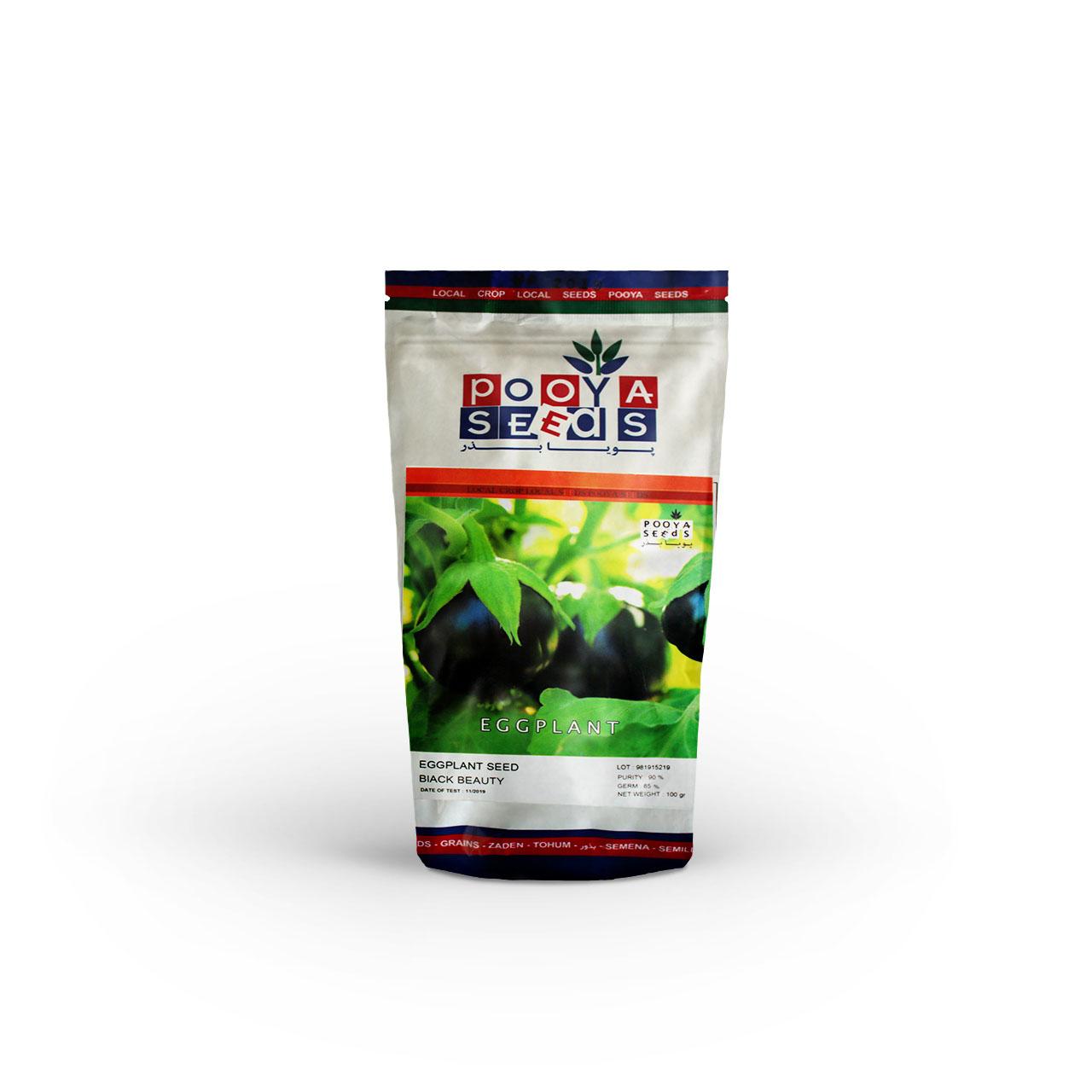 بذر بادمجان دلمه ای بلک بیوتی پویاسید 100 گرمی