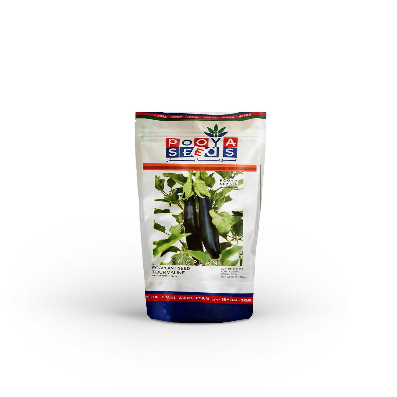بذر بادمجان سیاه قلمی تورمالین پویا سید 100 گرمی