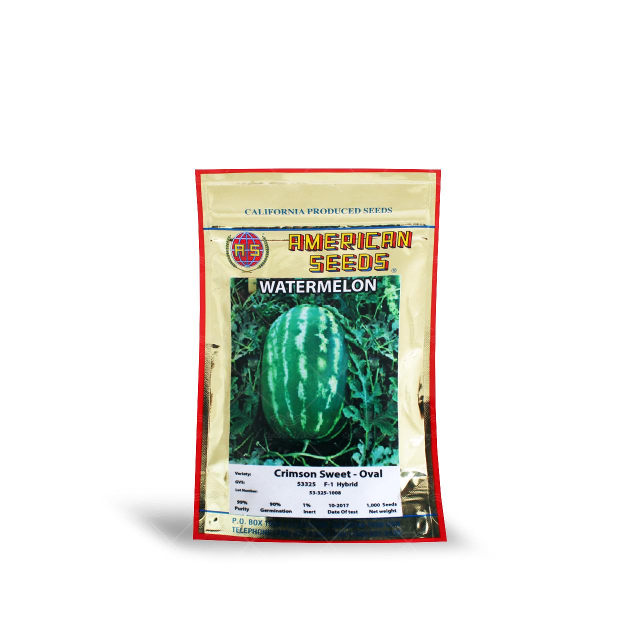 بذر هندوانه هیبرید کریمسون سوییت بیضی